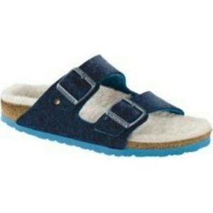 Birkenstock Blue Arizona Happy Lamb Sandal size 38